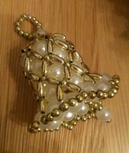 christmas beaded bell decoration