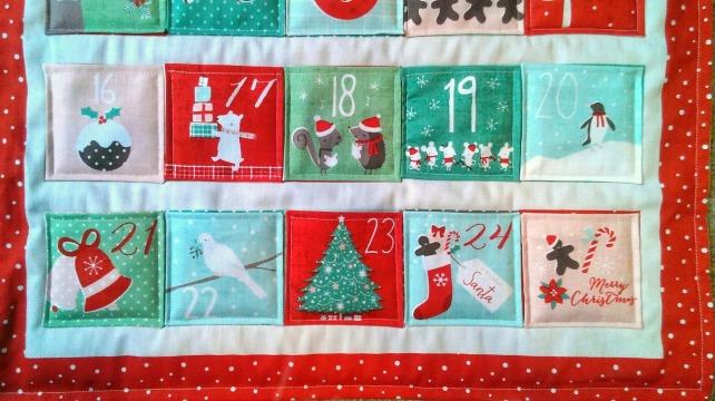 hand sewn adent calendar