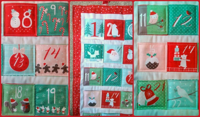 patchwork advent calendar kit
