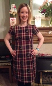 tilly and the buttons christmas tartan megan dress