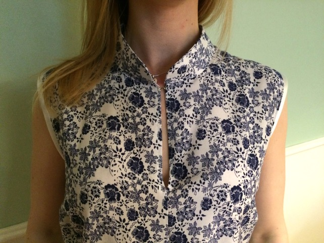 harper blouse mandarin collar