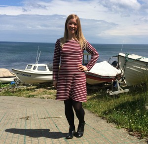 nautical stripe tilly and the buttons coco dress