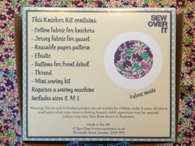 sew over it knicker kit contents list