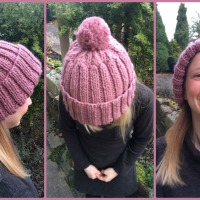 I Knitted a Woolly Hat! + Free Knitting Pattern