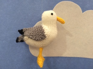 yarndale knitted seagull